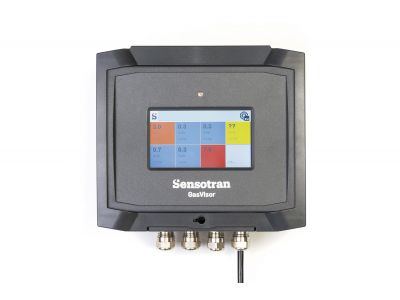 GasVisor - Gas detection control panel for up to 32 circuits of oxygen, volatile organic compounds, flamable and toxic gases with wireless option.