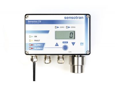 Sensotox C2 - Gas detector panel with display and relays fitted with NFC™ - SENSOTOX C2 with wireless option.