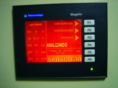 SENEMI - Analizador de emisiones para O2, CO, NO, NO2 y CO2 modelo SENEMI